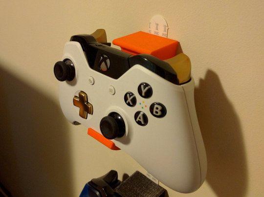 3D impreso controlador soportes de pared - par de Xbox uno / montajes de Wii U Pro Controller