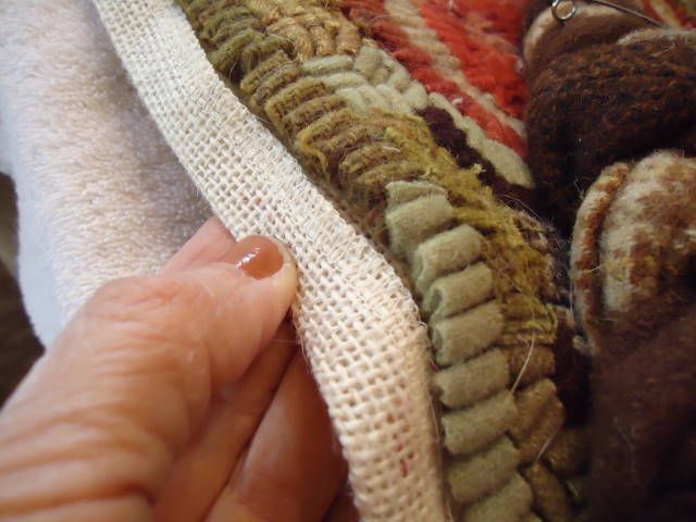 Ticklepie Blog... GREAT tutorial for adding a braided edge to your hooked pieces.