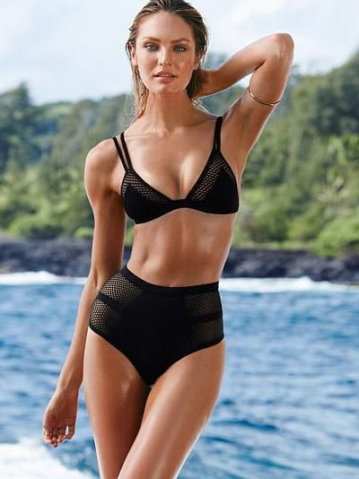 Mesh-inset Triangle Top - Very Sexy - Victoria's Secret #victoriassecret #designer #covetme