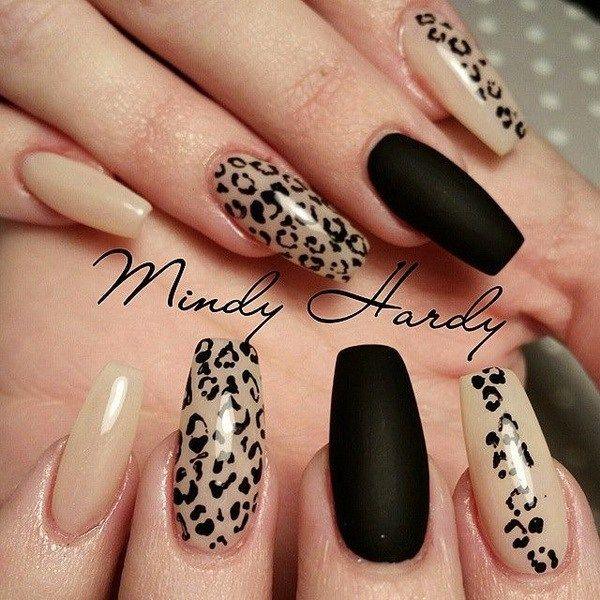 50 Stylish Leopard And Cheetah Nail Designs Nailed It Pinterest