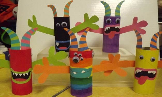 toilet paper tube monsters | Toilet Paper Tube Monsters | TinyTotties.com
