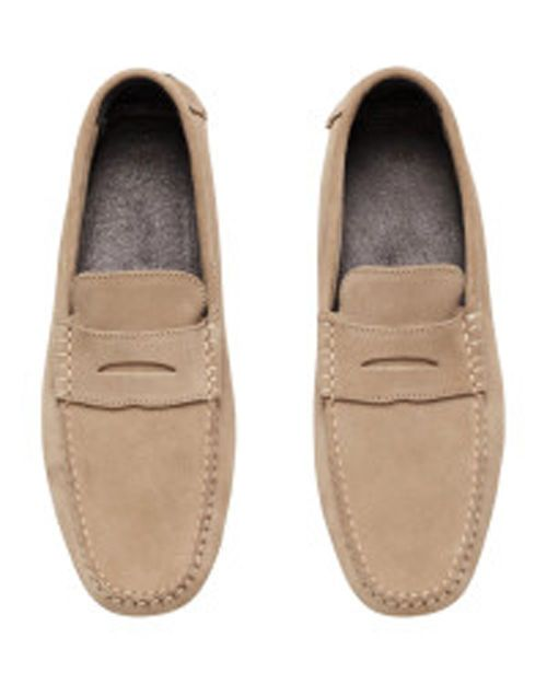 H&M Beige Suede Moccasins #men #fashion #uk #follow