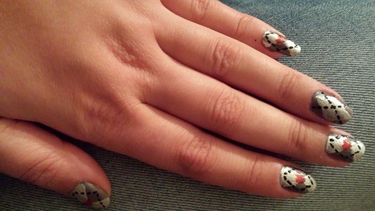 """""""50 shades of Grey"""" nails"""