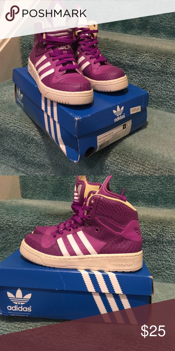 Women's Adidas Attitude size 7.5. Women's Adidas Attitude size 7.5 purple and white. Worn once. Adidas Shoes Athletic Shoes