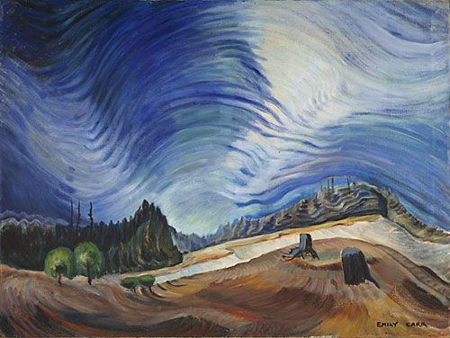 Above the Gravel Pit , 1937  oil on canvas