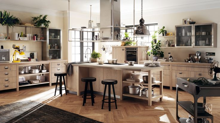 Modish Sweet Industrial Themed Kitchen Interior Design With Nice Decor - Use J/K to navigate to previous and next images