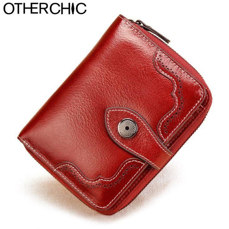 Vintage Echte echtem Leder Frauen Kurze Geldbörsen Kleine Geldbörse Tasche Kreditkarte Brieftasche Weibliche Geldbörsen Geldscheinklammer 6N08-05