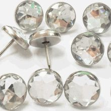 Crystal Upholstery Tacks - Solitaire