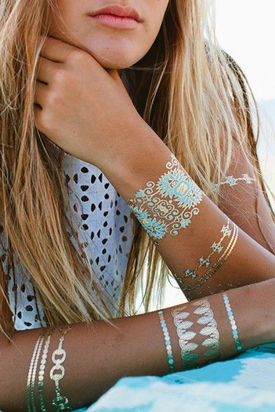 Gorgeous New Temporary Jewelry Tattoos for Spring and Summer #bohochic #flashtats #jewelry