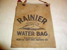 Vintage Rainier Canvas Water Bag