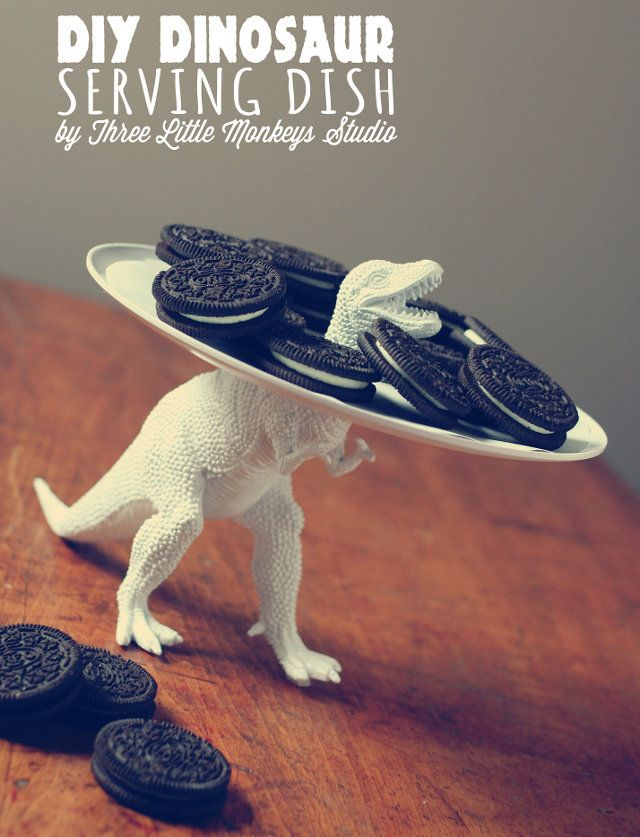 DIY T-Rex serving tray?? What the wha???