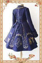 Cinderella Borduren ~ vrouwen Lange Wollen Jas voor Winter door Infanta ~ Klaring(China)