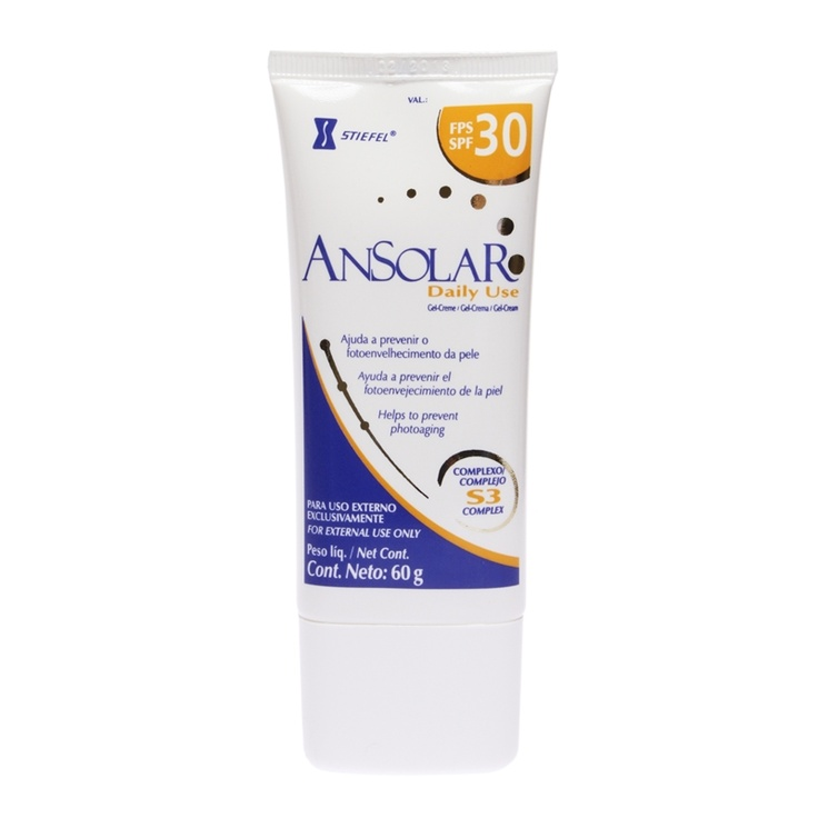 Ansolar Daily Use Gel-Creme Protetor Solar FPS30 60g