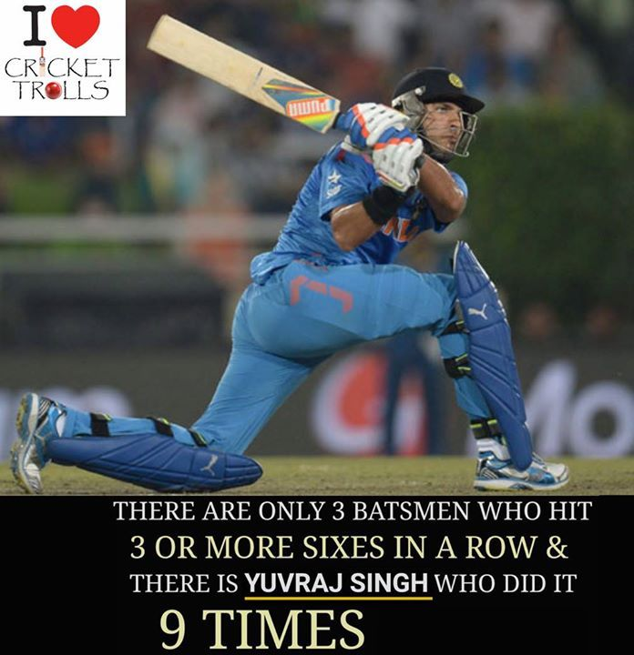 Yuvraj Singh : The SIxer King  For more cricket fun click: http://ift.tt/2gY9BIZ - http://ift.tt/1ZZ3e4d
