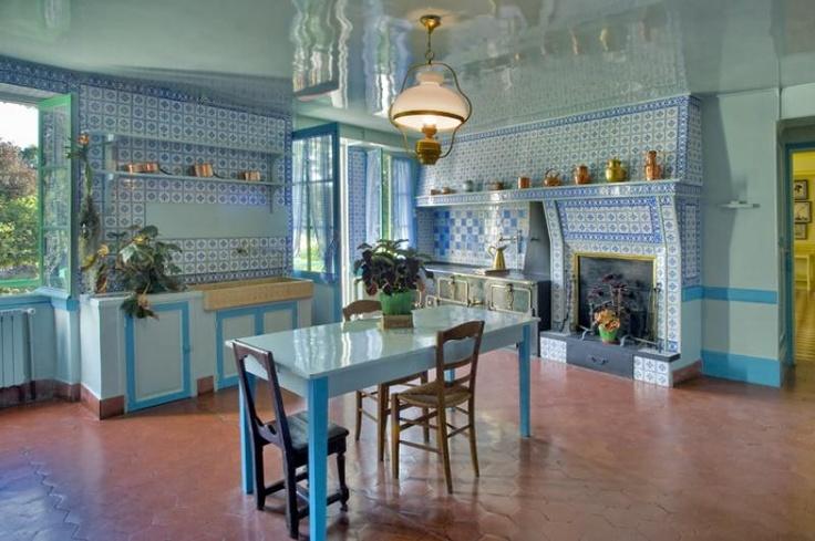 Claude Monet house kitchen, France