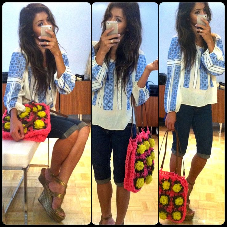 Romanian blouse top shirt + flower plastic bag