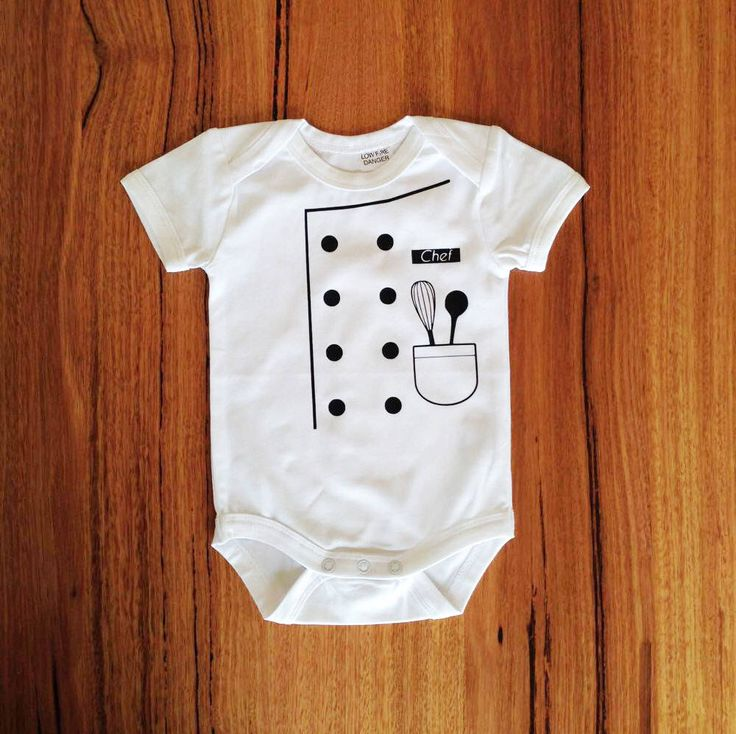 A personal favourite from my Etsy shop https://www.etsy.com/au/listing/252593402/printed-baby-onesie-costume-chef