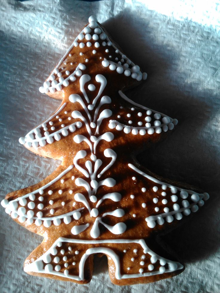 Christmas tree made of honey cookie