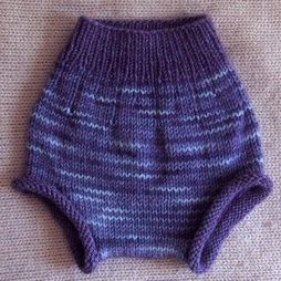 Free knitting pattern for Curly Purly Soaker diaper cover - pattern is close to end of the page
