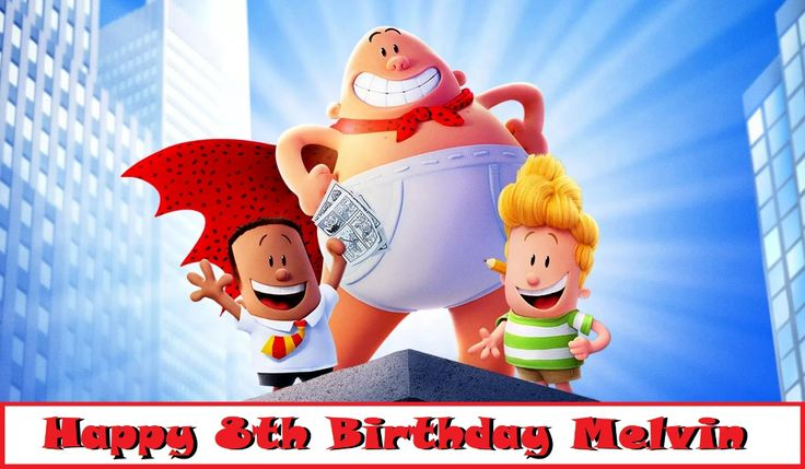 Captain Underpants Edible Cake Topper Image Decoration in ...