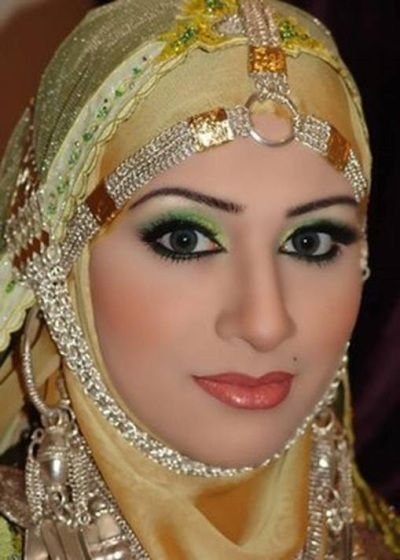 Hijab Style for weddings-is a veil which covers the hair and neck. It is worn by Muslim women particularly in the presence of non-related adult males. #Egypt