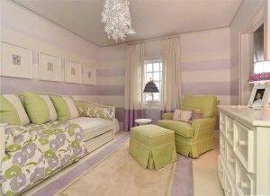 314 Fenton purple striped walls