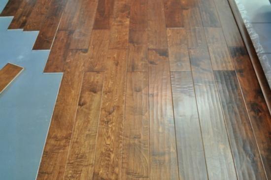 How to install engineered hard wood flooring.