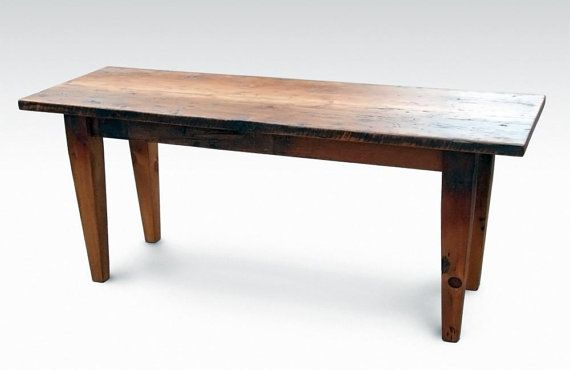 Narrow rustic pine farm table by oldegoodthings on Etsy  : 171761e2c521d7ee83977ea276bcf93b narrow dining tables farmhouse dining tables from www.pinterest.com size 570 x 370 jpeg 17kB