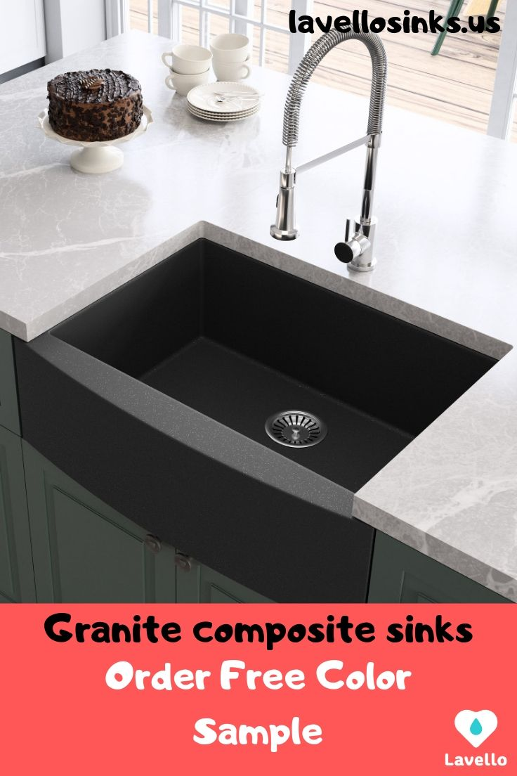 30 Farmhouse Granite Composite Single Bowl Kitchen Sink Lavello