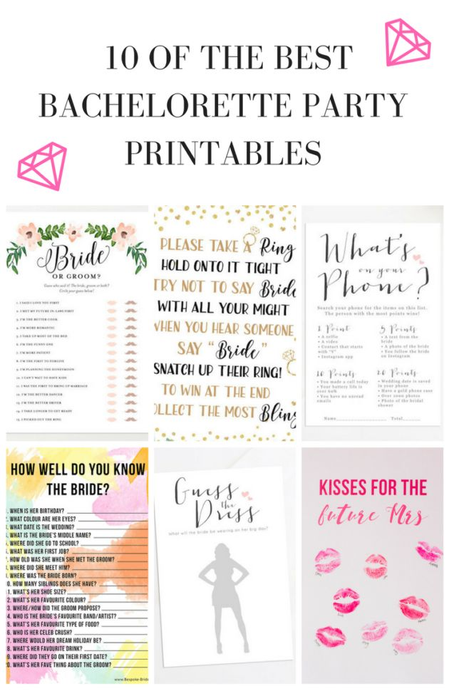 10 bachelorette party and bridal shower games free printables amazing party ideas bridal shower bridal bridal shower games