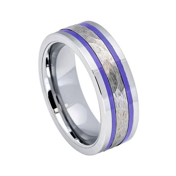 Brushed Finish Comfort Fit Beveled Edge Tungsten Carbide Ring Jewelry Avalanche 7mm Grooved Tungsten Wedding Band Mens Tungsten Anniversary Ring