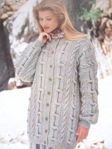 Knitting-Pattern-Sirdar-5041-LADIES-GORGEOUS-CABLE-LONG-LINE-CARDIGAN-30-40-DK