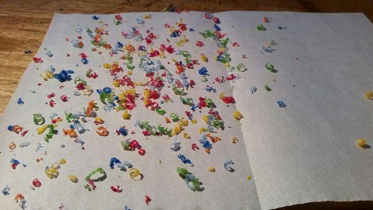 Crayones papel amor