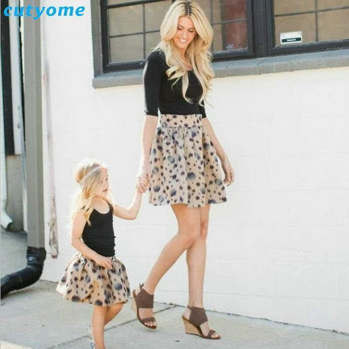 Mother Daughter Matching Dot skirt