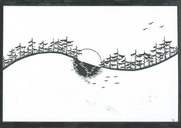 art  black and white line
