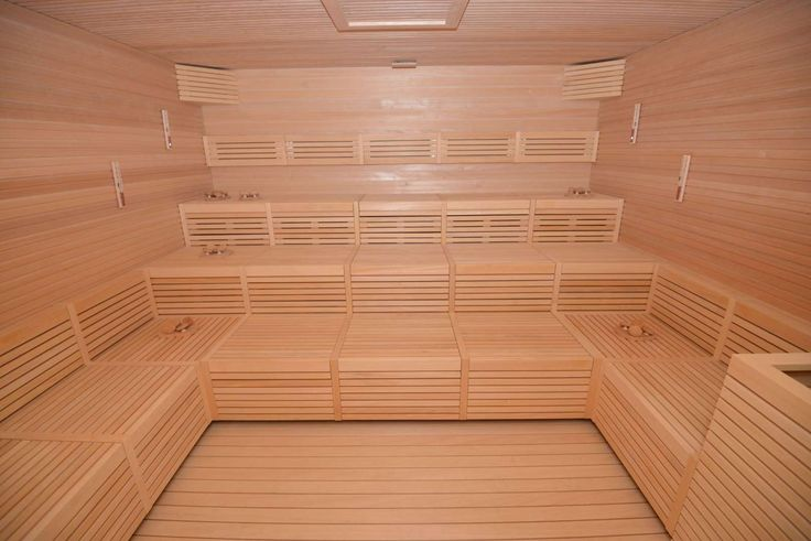 A traditional sauna in the MSC Aurea Spa's relaxation room. - Gene Sloan, USA TODAY