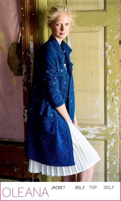 """OLEANA long jacket and top in silk and merino wool. """"really made in Norway"""""""