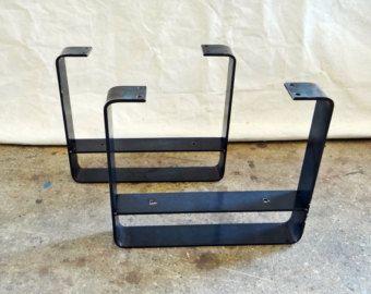 SET van 2 metalen salontafel poten van TimberForgeWoodworks op Etsy