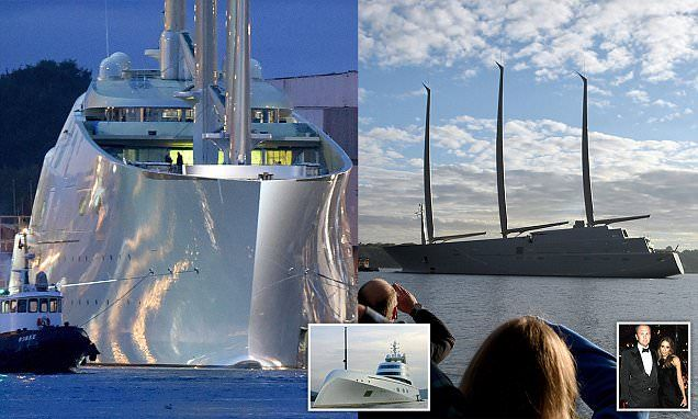 Russian billionaire Andrey Igorevich Melnichenko's yacht is the world's LARGEST | Daily Mail Online