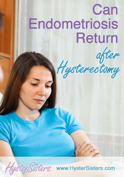 Can Endometriosis Return after a Hysterectomy? | Pre-Op Hysterectomy Article | HysterSisters