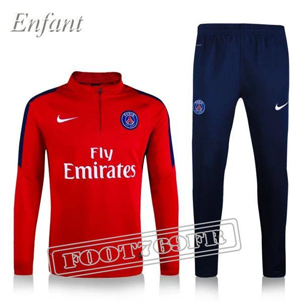 Promo:Nouveau Survetement PSG Enfant Rouge 2016 2017 | Foot769Fr