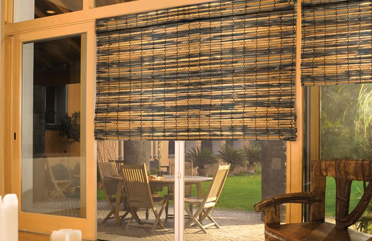 Persianas de bambú
