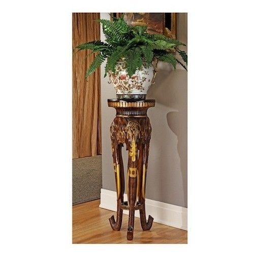 pedestal plant stand tall accent table elephant sculpture display  inside Tall Accent Tables Enhancing With Tall Accent Tables Furniture