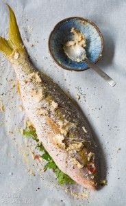 Easy Snapper Recipe - Whole Roasted Snapper with Anchovy Butter and Herbs #bakedfish #snapperrecipe