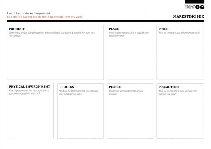 Tool Worksheet Image For Marketing Mix Marketing Mix Marketing Business For Kids