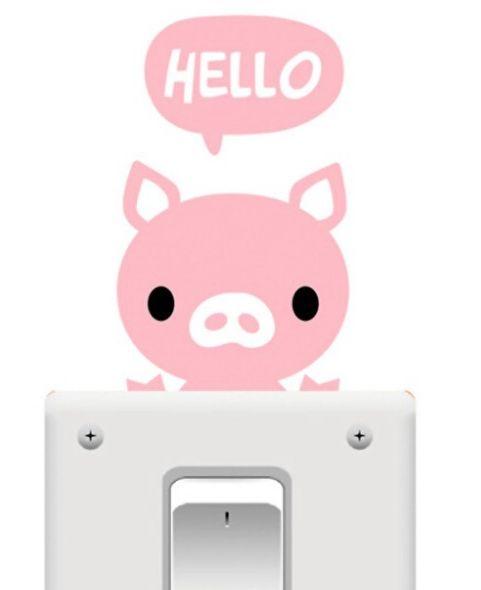 Light Switch Sticker - Pink Pig