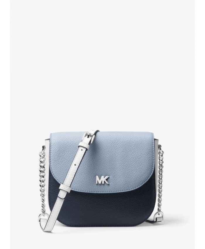 af62057361b4 Michael Kors Adm/Plbl/Opw Mott Color-Block Leather Dome Crossbody  32S8SF5C0T-