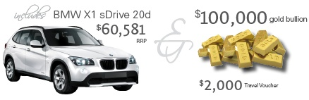 First prize includes a BMW and gold bullion