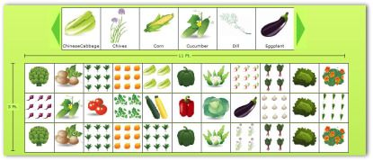 Vegetable garden layout template planning a garden for Veggie patch layout
