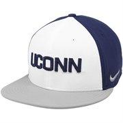 Nike UCONN Huskies True Snapback Hat - Navy Blue/White/Gray